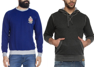 Amazon : Buy Mens Sweatshirt And Get at Min 50% OFF and Extra Free Rs. 200 Amazon Gift Card on the purchase of Rs. 500.