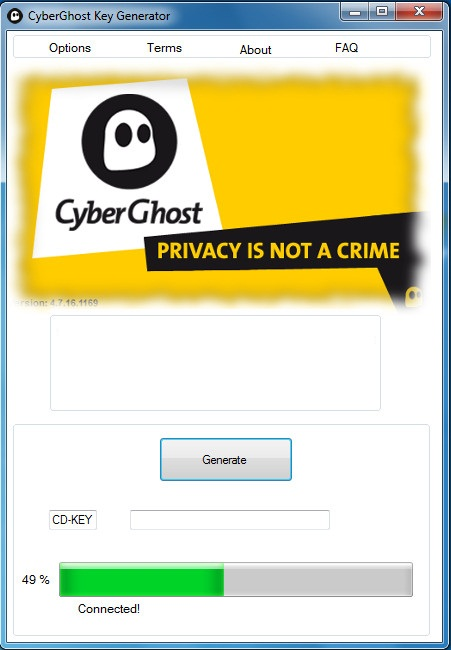 cyberghost activation key