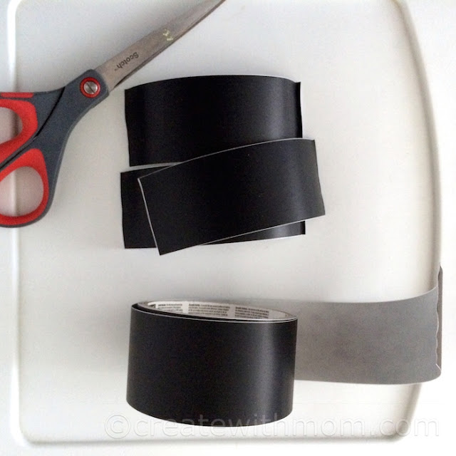 chalkboard tape organizing craft room