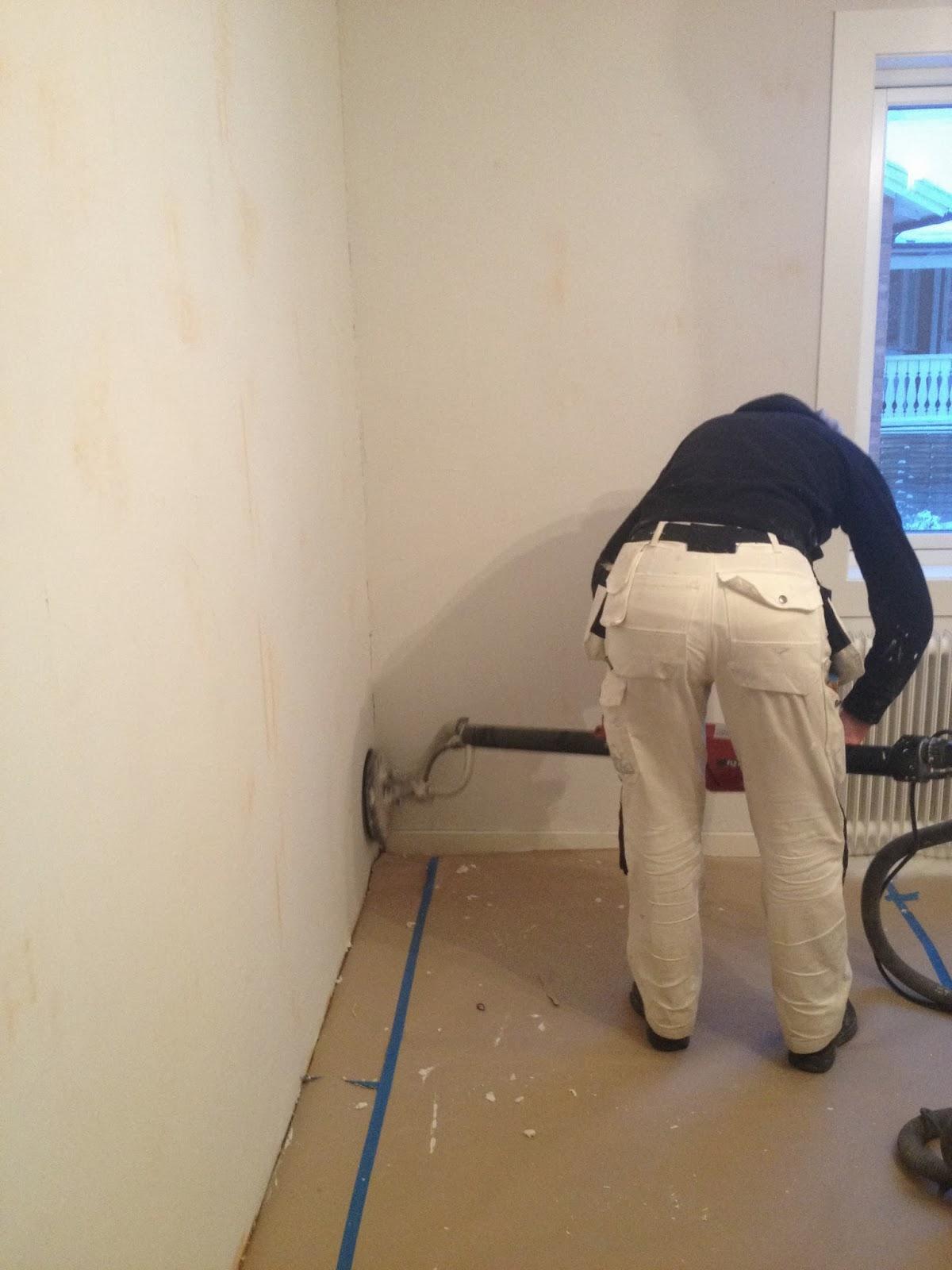 slipa putsad vägg