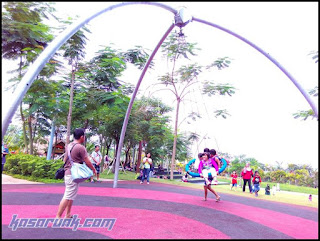 scientia Park, taman terbuka, taman bermain anak di tangsel, ayunan