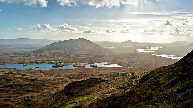 A landscape shot of beautiful Connemara