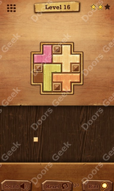 Wood block relax level 16 solution doors geek for 16 door puzzle solution