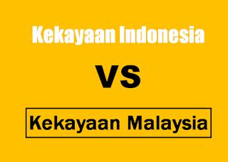 Jika di ranking,  negara indonesia dan malaysia manakah yang terkaya?