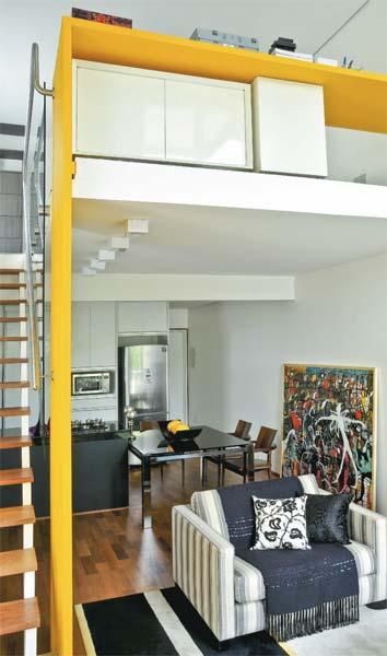decoracao cozinha loft:Na medida do sonho: mezanino ampliado ganha espaço no loft