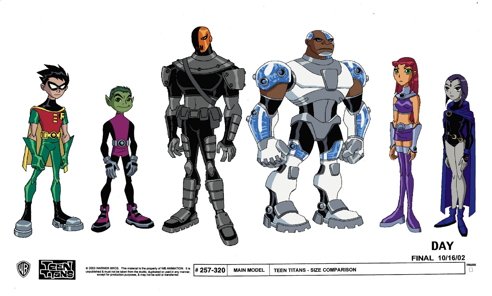 Teen Titans Model Sheets
