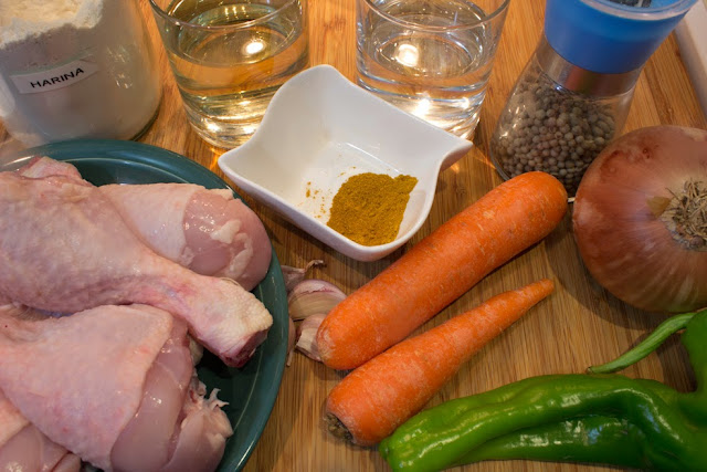 ingredientes Muslos de pollo al curry