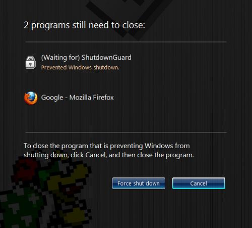 Mencegah Apps dari Windows Shutdown atau Restart dengan ShutdownGuard