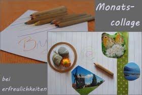 Monatscollage: vom letzten Donnerstag jeden Monats bis zum ersten Donnerstag des neuen Monats