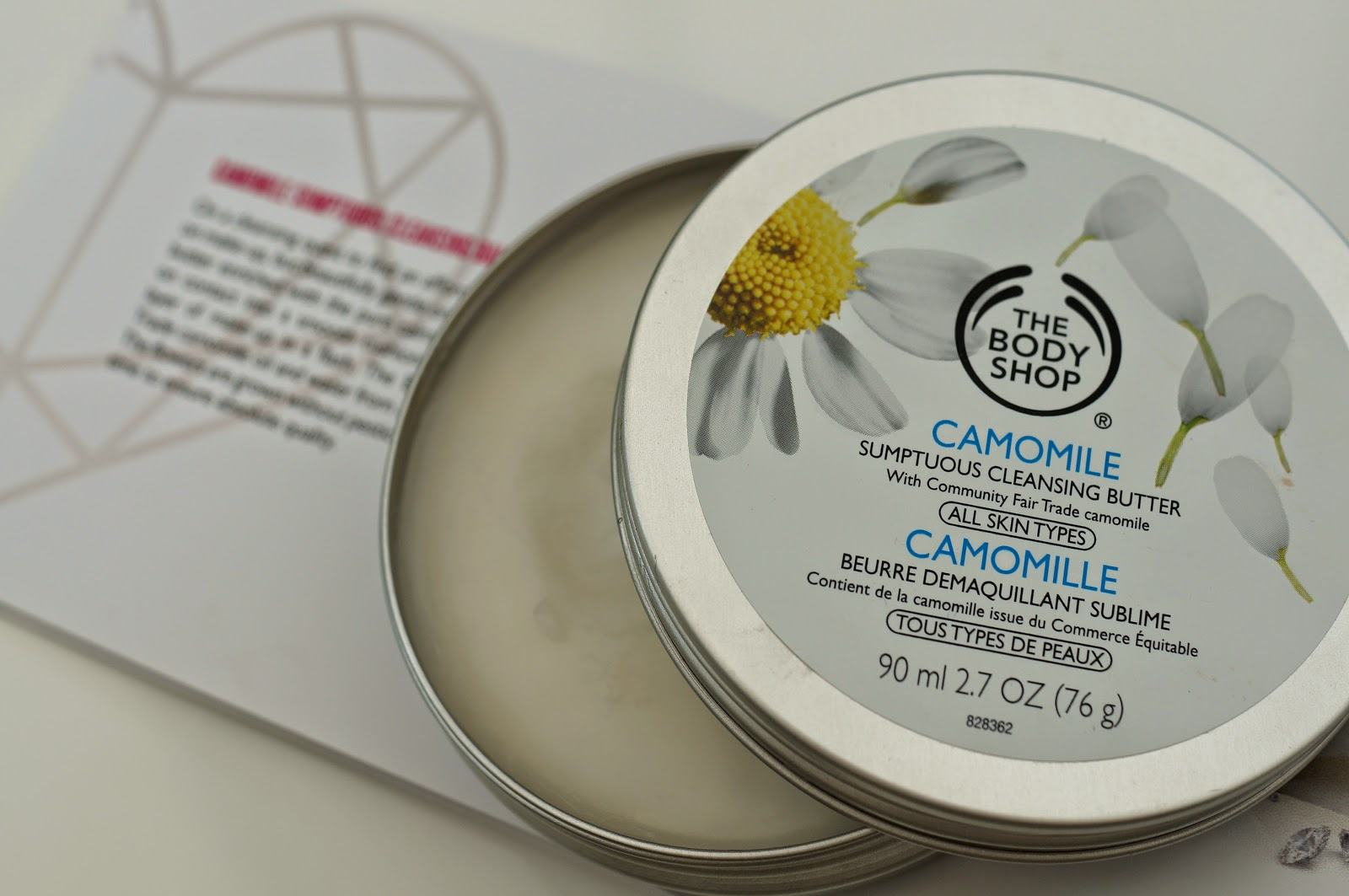 The Body Shop camomile cleansing butter