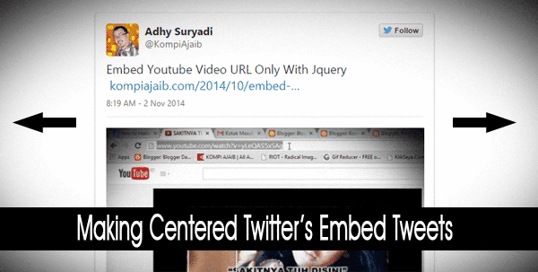 Centered Embedded Tweets With CSS