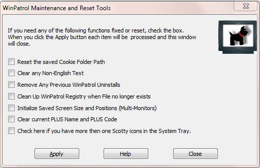 WinPatrol Maintenance and Reset Tools