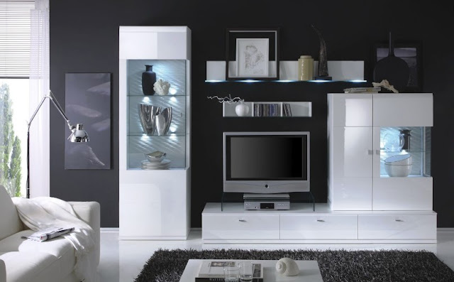 White high gloss living room furniture sets modern design ideas with