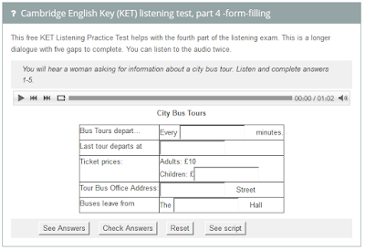 http://www.examenglish.com/KET/ket_listening_part4.htm