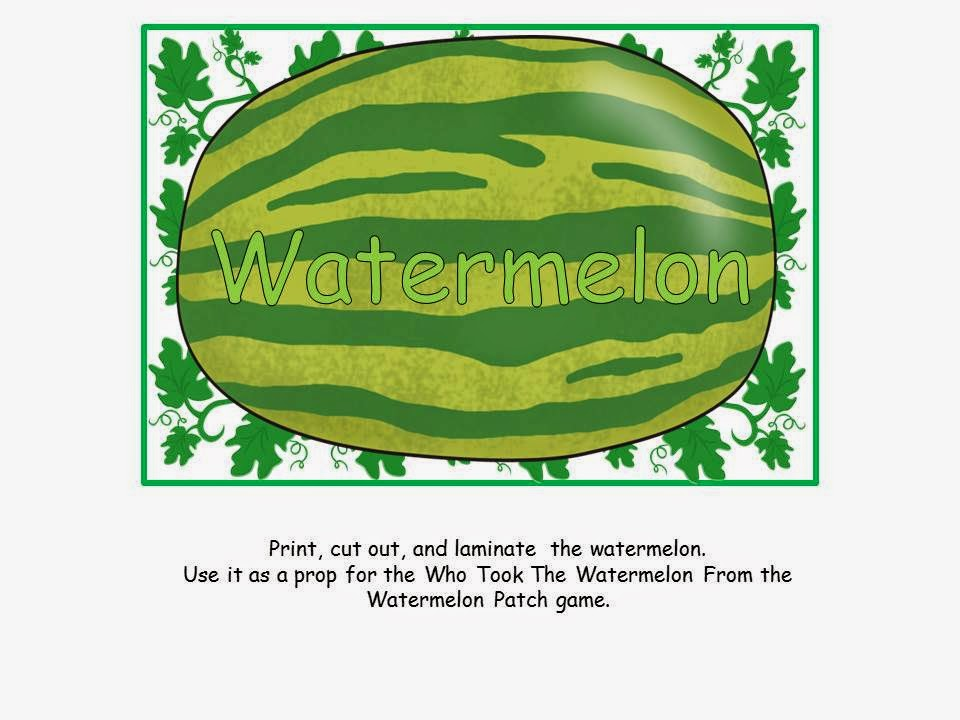 http://www.teacherspayteachers.com/Product/A-FREEBIE-Who-Took-The-Watermelon-From-The-Watermelon-Patch-Game-1254579