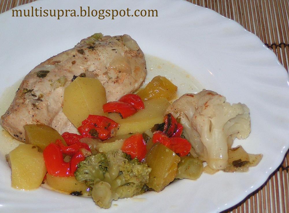 Рецепты куриной грудки с овощами в мультиварке
