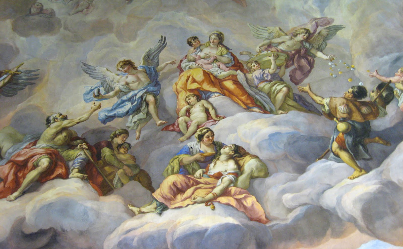 ceiling frescoes St. Charles Church, Vienna