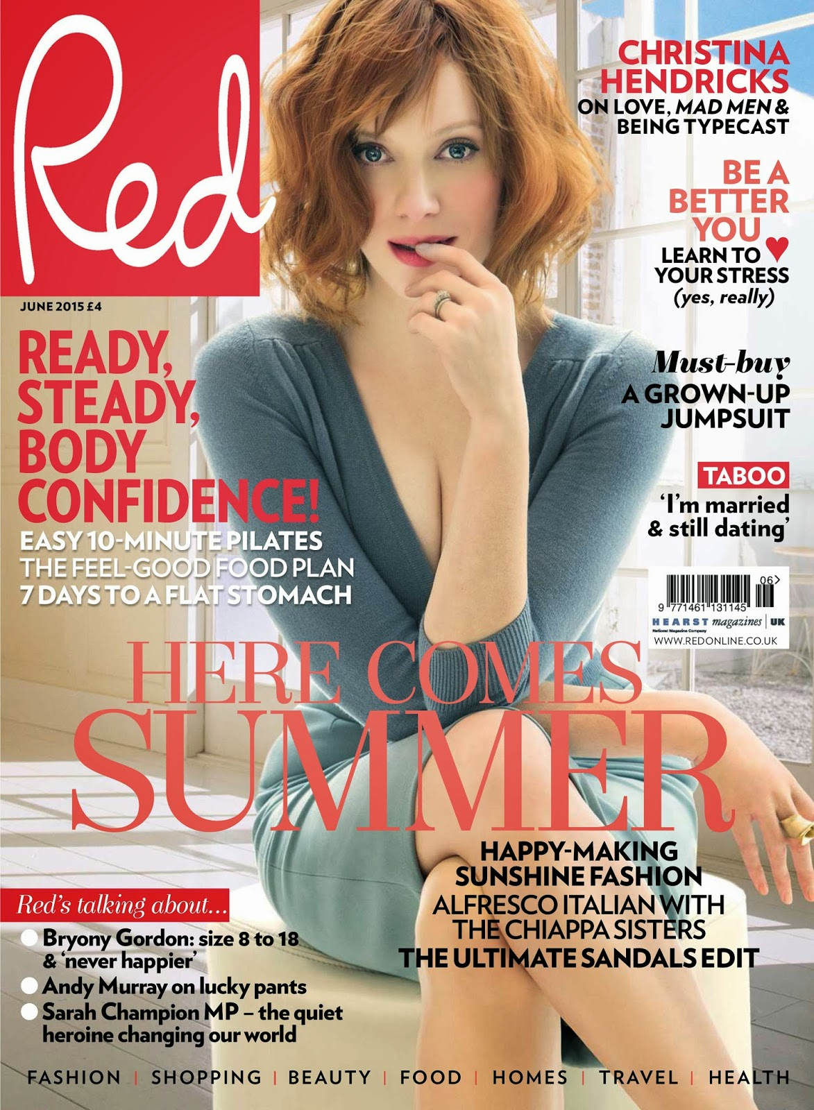 Actress @ Christina Hendricks - Red UK, June 2015