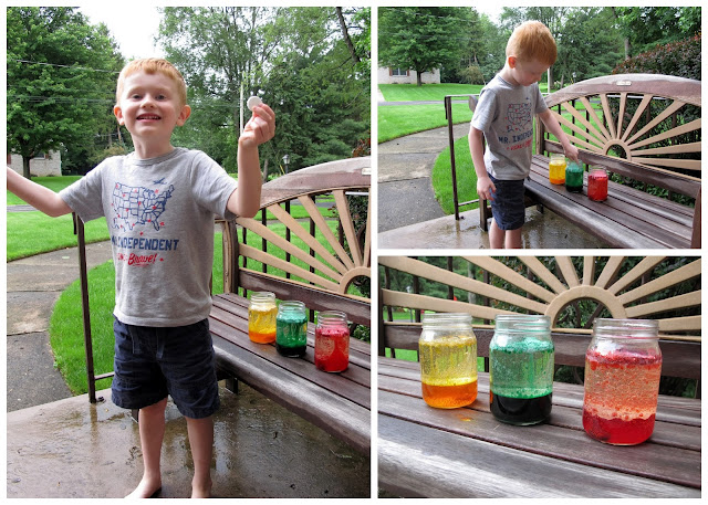 Making Homemade Lava Lamps