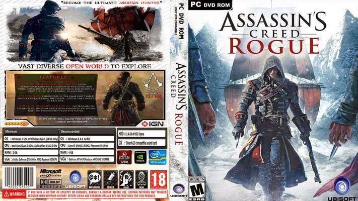 تحميل لعبة assassins creed rogue برابط مباشر وبدون تثبيت