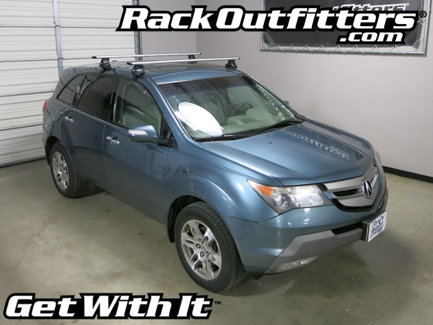 Acura MDX Thule Rapid Traverse SILVER AeroBlade Base Roof Rack - Acura mdx roof rails