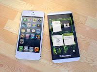 Perbandingan BlackBerry Z10 dengan Iphone 5