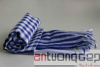 bán khăn rằn màu xanh giá rẻ