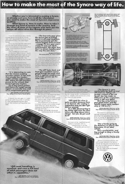 South Africa Volkswagen Syncro Advertisement