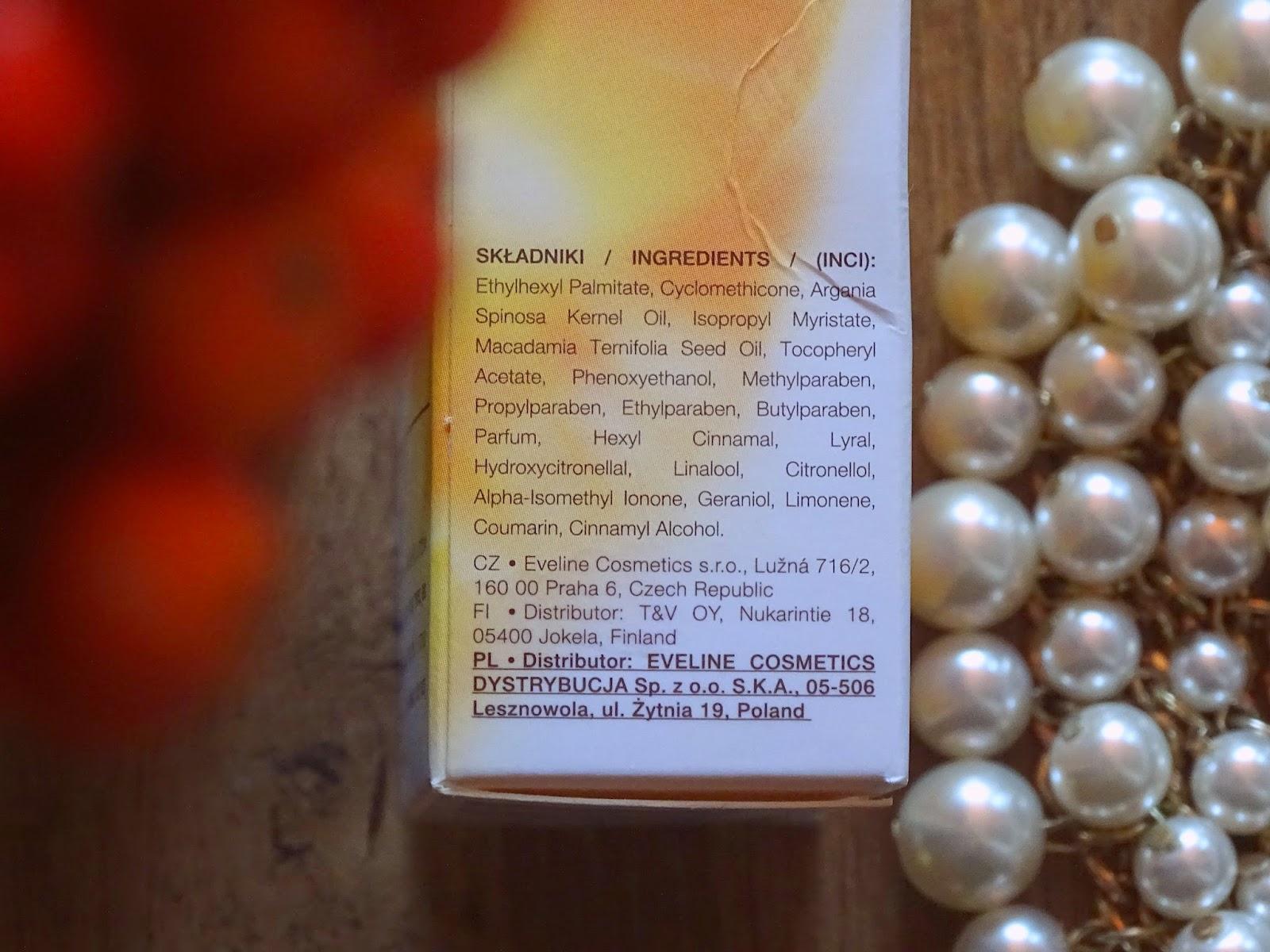 eveline arganowy olejek do ciała