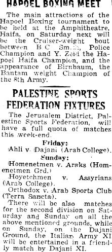 Palestine Post, 9 November 1945