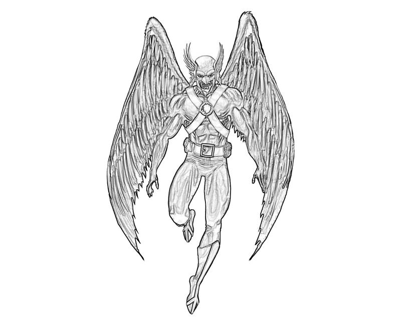 hawk guy coloring pages - photo#11