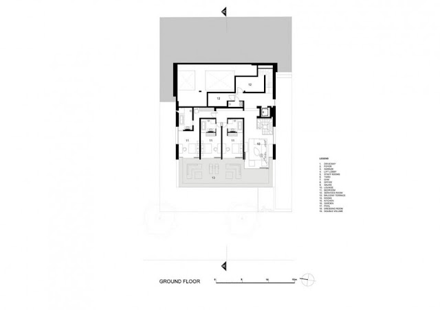 Ground floor floor plan of an amazing modern home
