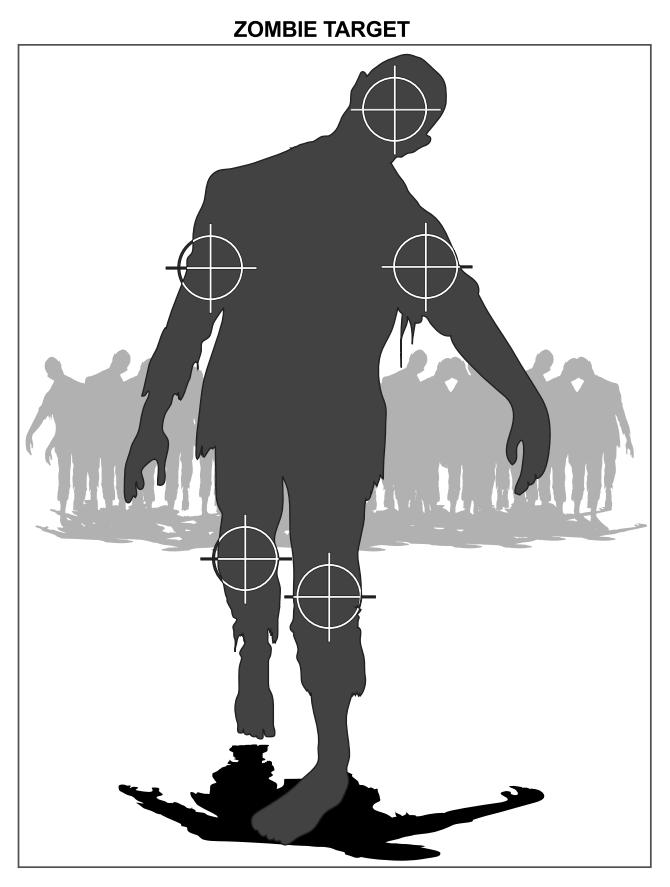 It is a photo of Monster Zombie Target Printable