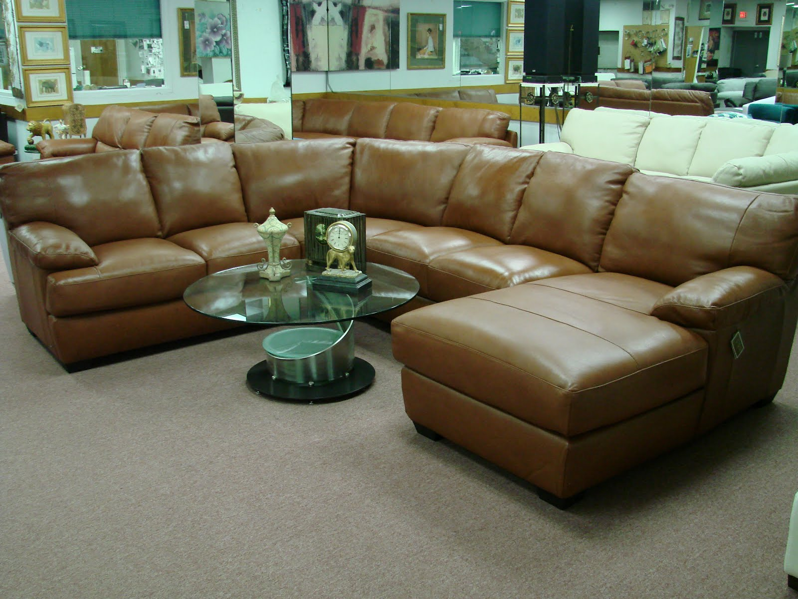 Natuzzi leather sofas sectionals by interior concepts for Furniture dealers