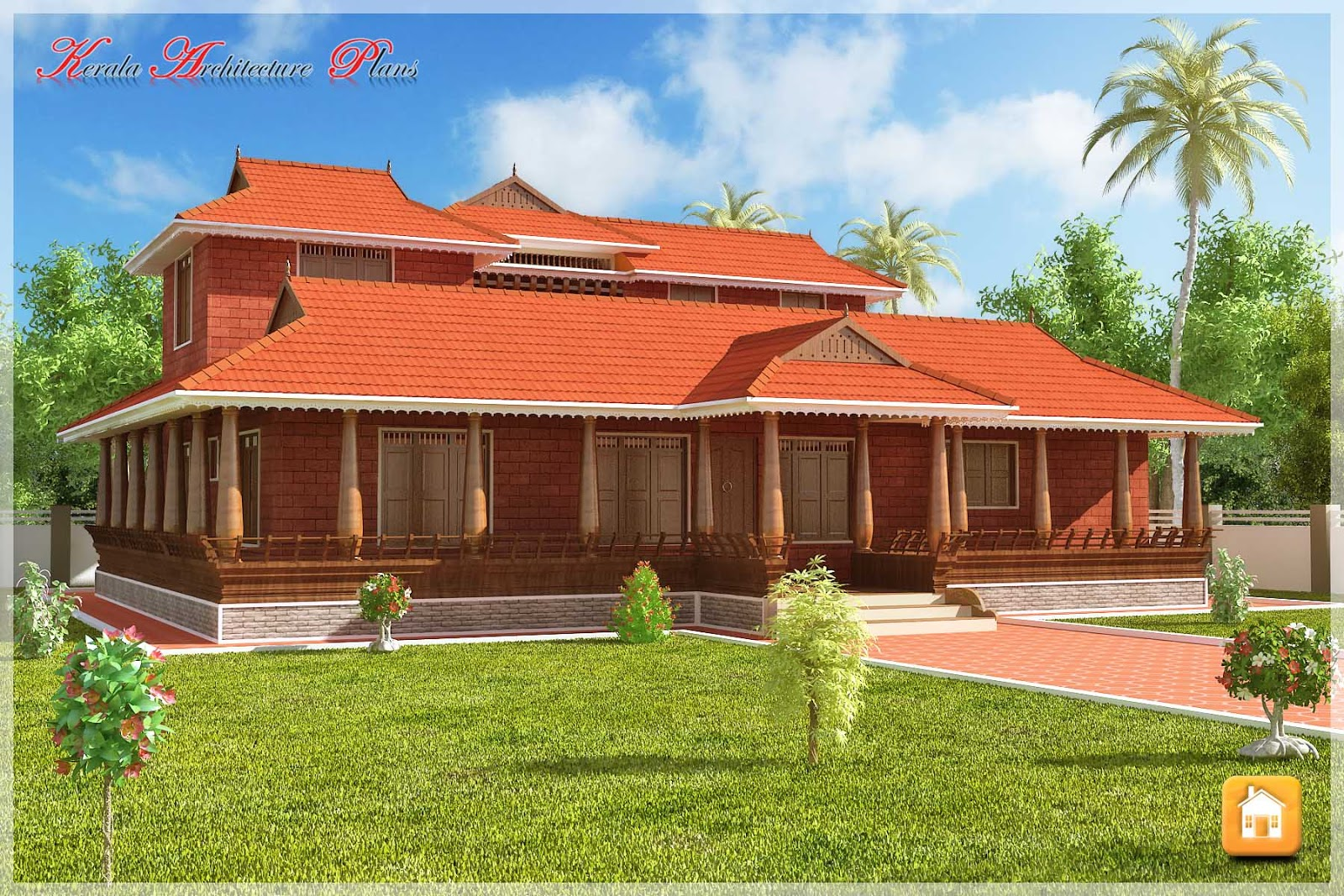 Beautiful traditional nalukettu model kerala house plan for Kerala home plans