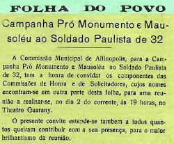Lista dos patriotas de Altinópolis - Clique e leia.