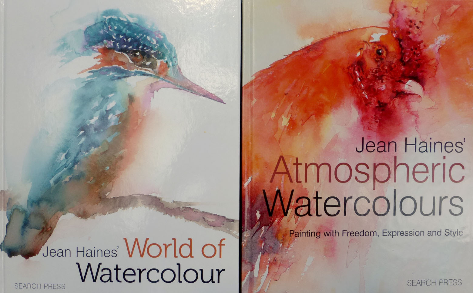 Watercolor books by search press - Jean Haines Books World Of Watercolor And Atmospheric Watercolors Are What I Ve Used To Try And Learn How To Paint Flowers More Loosely I Have A Looong