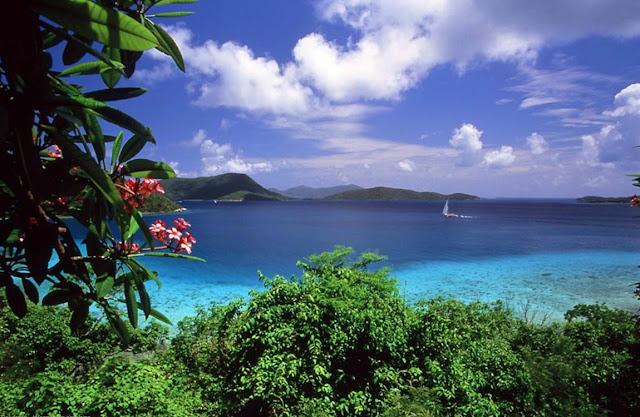 vista do mar azul