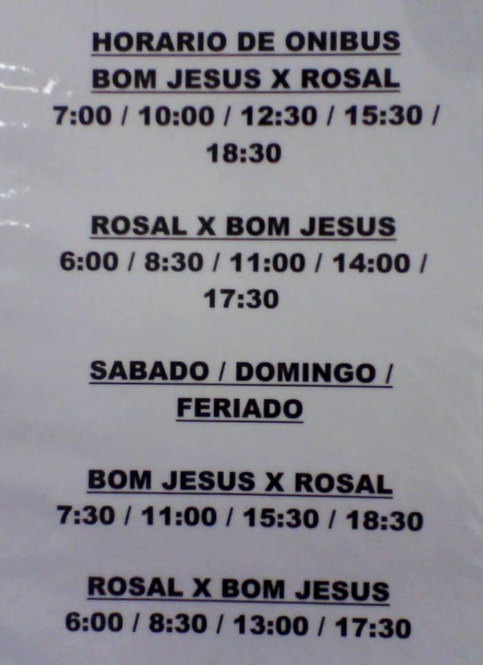 Horários para Barra do Pirapetinga, Calheiros e Rosal