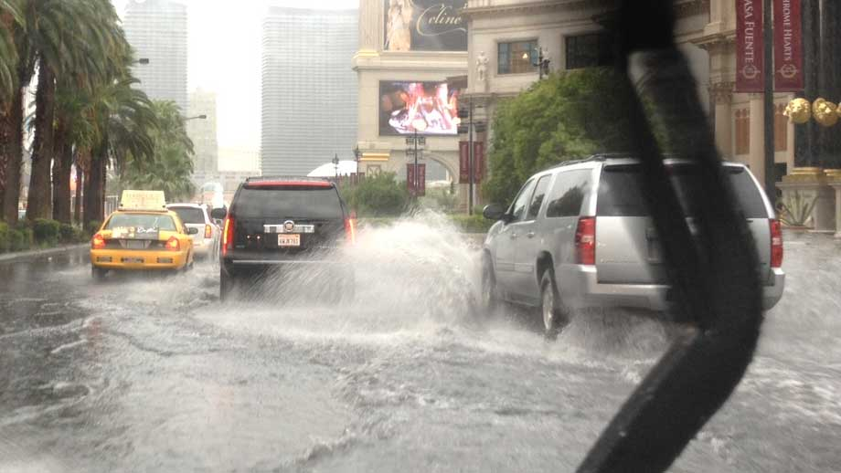 Records smashed as more than five months of rain falls in one day in Las Vegas Sunday