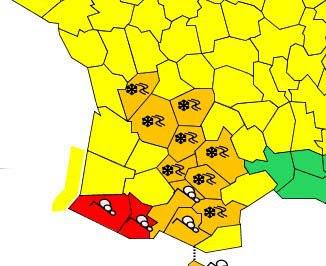 Météo :  ALERTE ROUGE dans les Pyrénées-Atlantiques