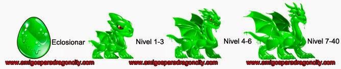 imagen del crecimiento del dragon fluido verde