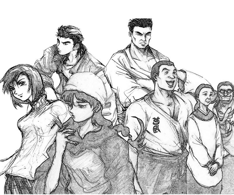 shenmue-dojo-characters-coloring-pages
