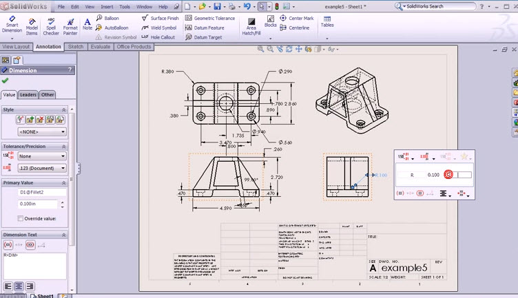 Drawings Using Basic Commands For Drawing 2d Solidworks