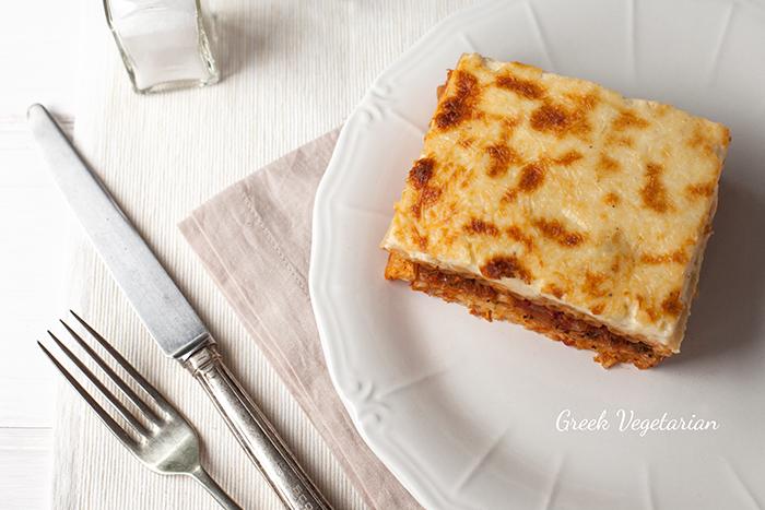 Greek Vegetarian: Vegetarian Pastitsio (Greek pasta bake)