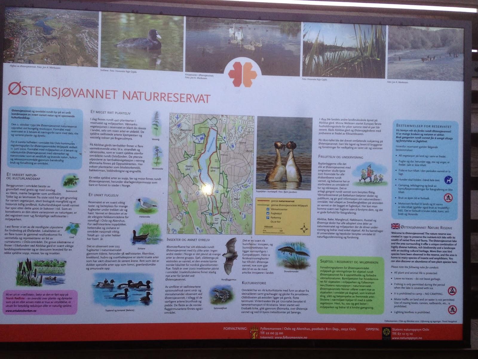 Oppslag og regler for hvordan man ferdes best innenfor naturreservatet.