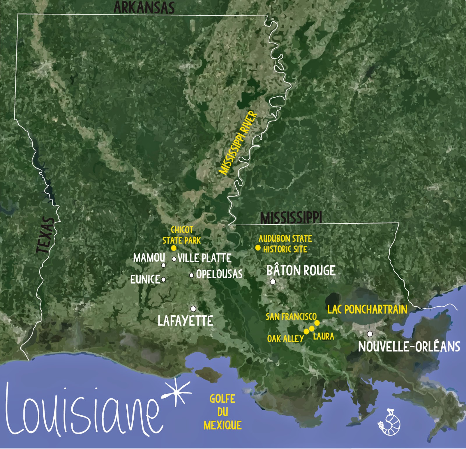 Road trip Louisiane, USA