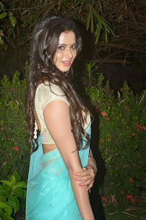 Actress Meenakshi Dixit Latest Pictures in Saree at Thenaliraman Movie Audio Launch 2.jpg