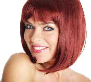 Chin length bob haircut
