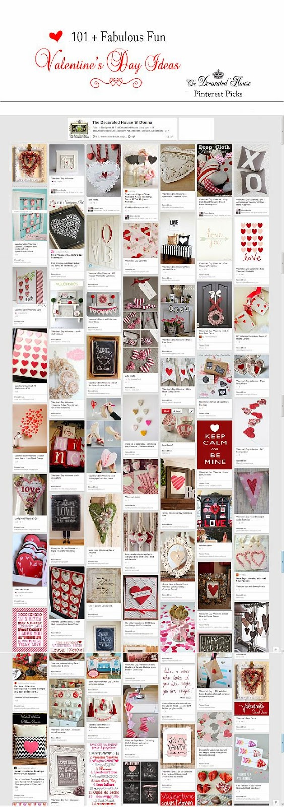 The Decorated House. Valentine's Day. 101 + Fun and Fabulous Ideas